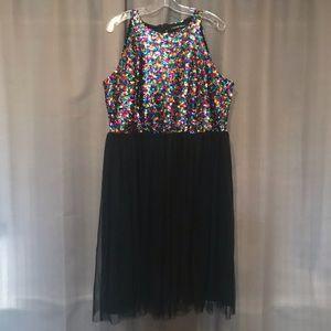 Rainbow Sequin Party Dress